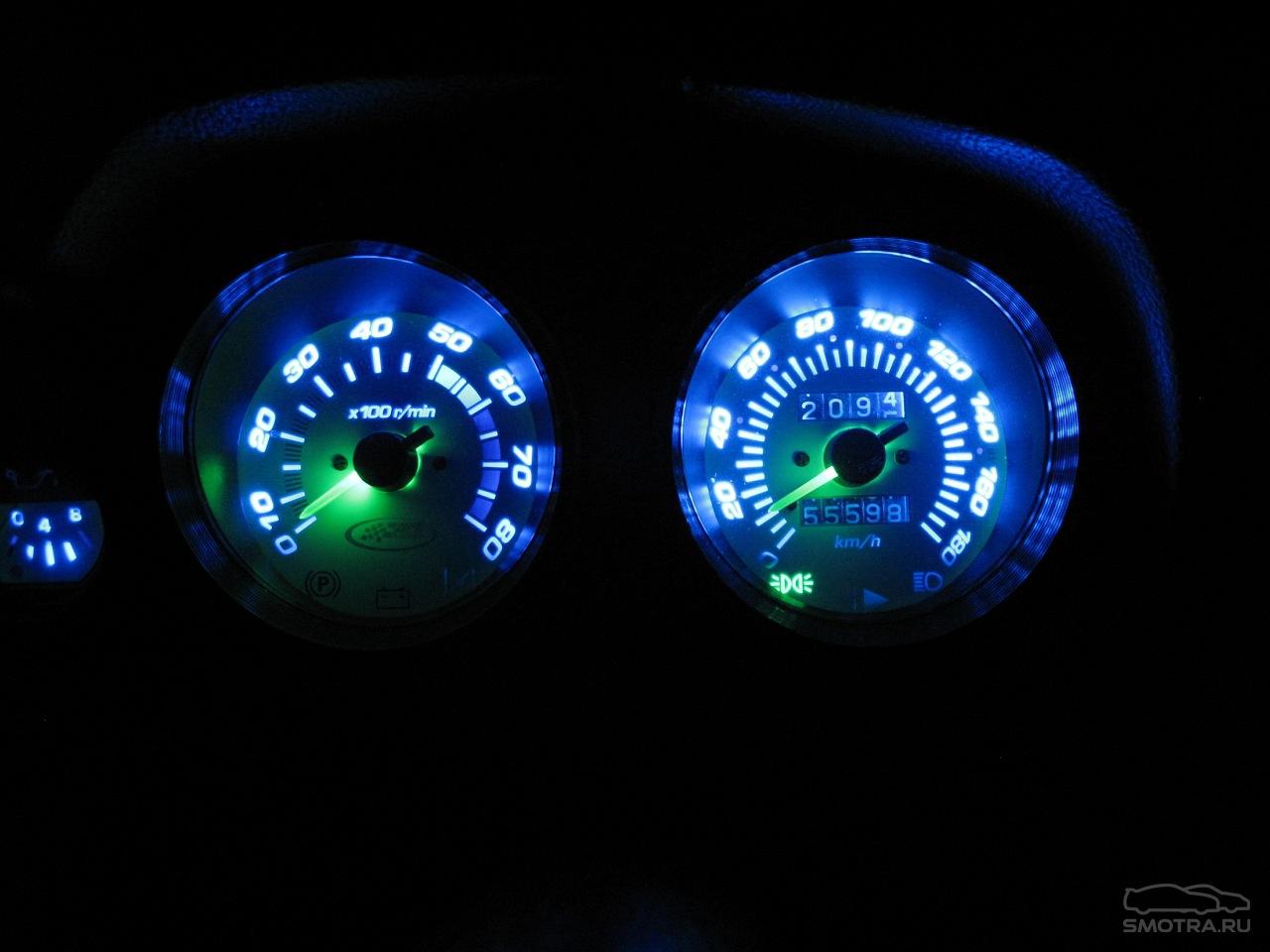 Как сделать подсветку ярче спидометр