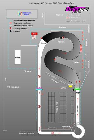 Вот схема трассы на второй