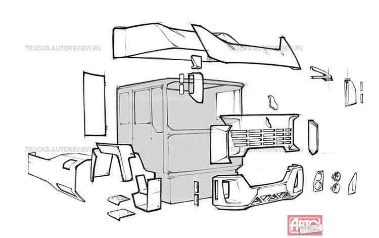 Прототип КАМАЗа с кабиной