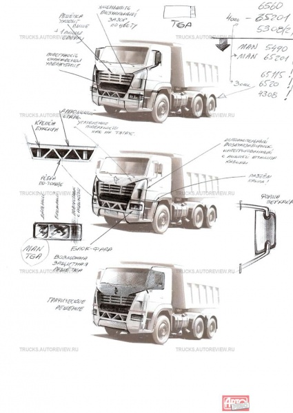 Дизайн камаз кабина