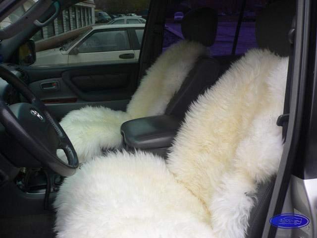 Предлагаем купить меховые чехлы для авто кресла, чехол из овчины.
