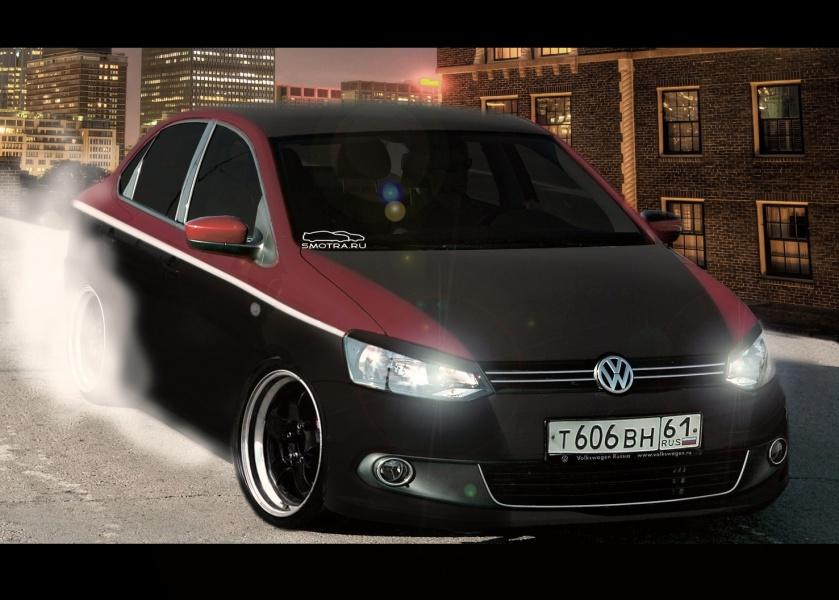 Volkswagen Polo tuning гражданский тюнинг фольксваген Поло