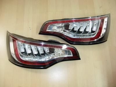 Audi q7, оптика 4 би-ксеноновых линзы +drl вариант 1 цоколь: d1s, d2s, d3s, d4s
